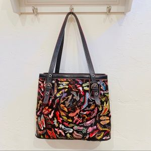 """Sydney Love Bags - Sydney Love purse FUN shoe pattern """"stepping out"""""""